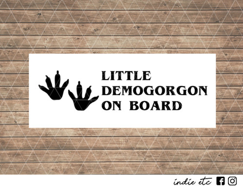 little demogorgon on board decal
