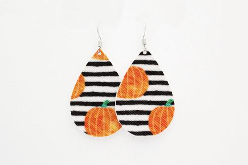 pumpkin teardrop earrings