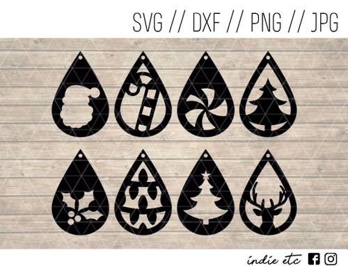 teardrop christmas earrings digital art