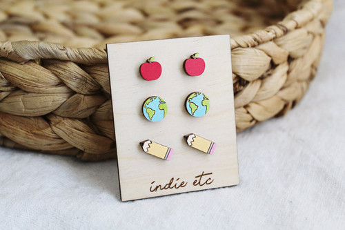 teacher earrings set