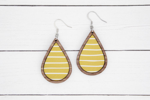 mustard stripe earrings