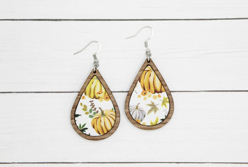 vintage pumpkin earrings