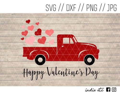 happy valentines day truck