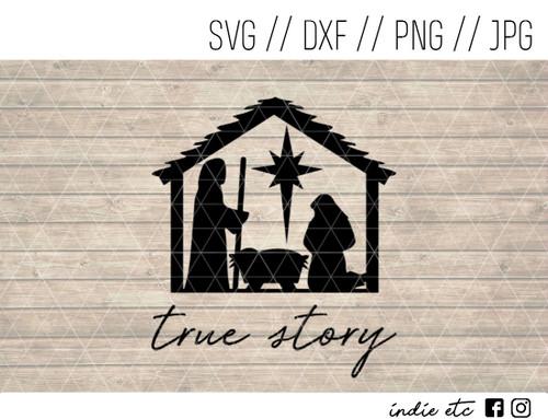true story manger scene