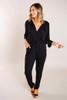 Black Kimono Sleeve Jumpsuit