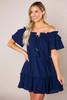 Navy Textured Tassel Dress - Final Sale