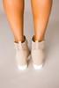 Beige Perforated Wedge Sneakers - Final Sale