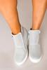 Grey Perforated Wedge Sneakers - Final Sale