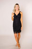 Black Lace Fitted Dress - Final Sale