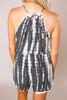 Grey Tie-Dye Sleeveless Romper - Final Sale
