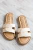 Natural Twist Strap Sandals
