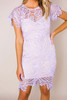 Lilac Crochet Fitted Dress