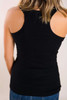 Racer Back Tank- Black