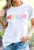 "White ""Weekend"" Tee - Final Sale"