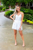 White Lace Romper - Final Sale