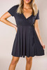 Black Wrap Swing Dress - Final Sale