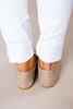 Beige Pointed Loafers