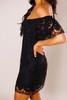 Black Lace Off The Shoulder Dress