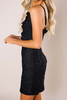 Black Lace/Ruffle Dress - Final Sale
