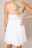 Ivory Lace-Up Dress