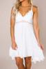 Ivory Crochet Top Slip Dress