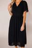 Black Textured Midi Dress - Final Sale