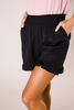 Black Ruffle Hem Shorts - Final Sale