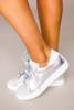 Silver Metallic Star Sneakers