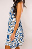Slate Tropical Print Dress