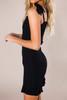 Black Smocked Mini Dress