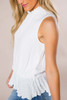 Ivory Textured Smocked Tank - Final Sale