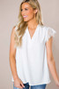 White Lace Sleeve Blouse - Final Sale