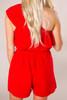 Red One-Shoulder Romper - Final Sale