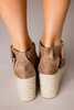 Taupe Braided Wedges