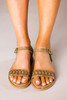 Taupe Studded Sandals