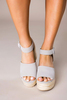 Grey Buckle Wedges- Final Sale
