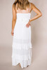 Ivory Textured Ruffle Maxi - Final Sale
