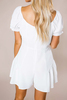 Ivory Button Romper