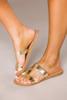 Gold Metallic Sandals