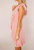 Dusty Rose Chiffon Ruffle Dress