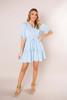 Light Blue Crochet Detail Dress