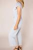 Grey Ruffle Sleeve Jumpsuit