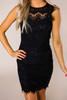 Black Scallop Lace Dress
