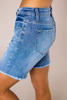 Frayed Hem Long Denim Shorts - Final Sale