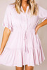 Mauve Crochet Detail Dress