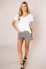 Grey Leopard Denim Shorts - Final Sale