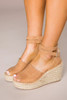 Tan Scallop Wedges