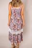Mocha Floral Long Dress - Final Sale