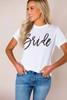 """White """"Bride"""" Tee"""