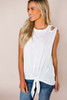 Ivory Cut-Out Shoulder Tank